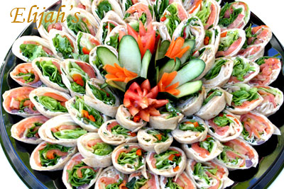 Elijah's Catering San Diego,  Assorted Sliced Wrap Ups.