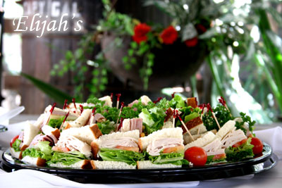 Elijah's Catering San Diego, Finger Sandwiches Platter at the Rancho Bernardo Winery.