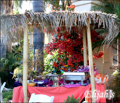 "Elijah's Catering San Diego, Mexican Buffet with a ""Beachy"" Theme."