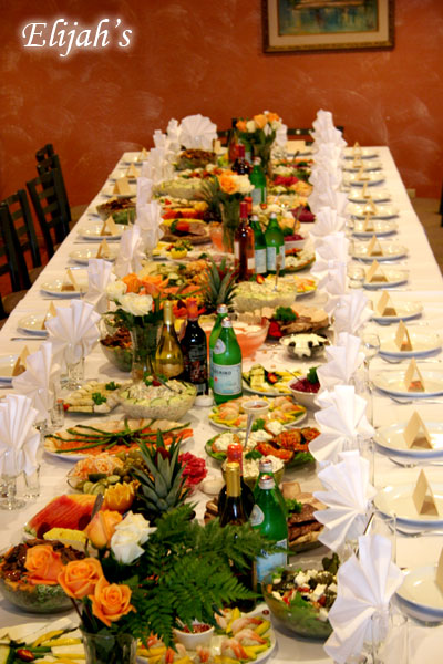 Elijah's Catering San Diego, Russian Party Theme Table.